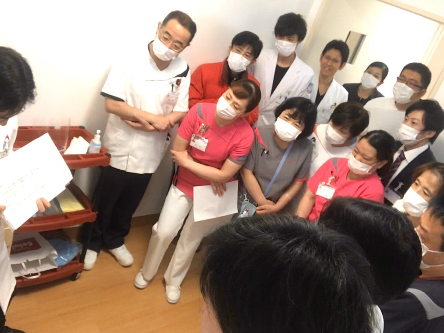 新型コロナウイルス発生時のシュミレーション訓練
