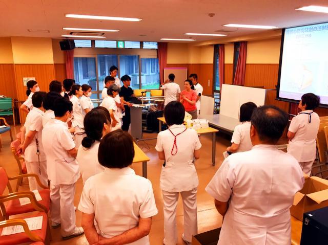 ナース・スキルアッププロジェクト【筋肉内注射の手技向上】として院内勉強会を開催しました❗